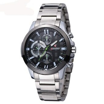 Harga Fashion LONGBO Mans Steel Strip Sport Quartz Watch Watches Man Army Military Wristwatch 80225