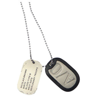 Harga Cosplay Gangsta Nicolas Brown A/O Dog Tag Pendant Necklace (Silver)
