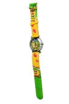 Harga Kid's Yellow Leather Strap Watch Spongebob with Purse for Kids