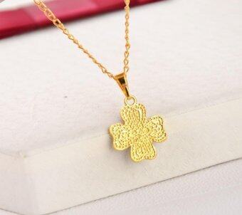 Harga Clover Heart-shaped Necklace Female Clavicle Chain- Gold - intl