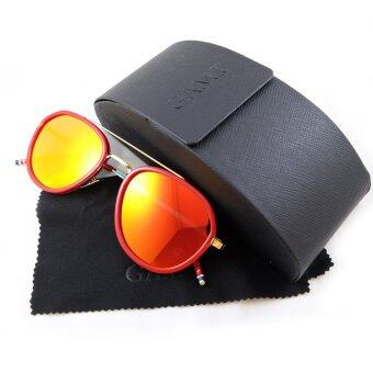 Harga GAMT TOM AVIATOR SUNGLASSES ปรอทแดง RED 58 mm