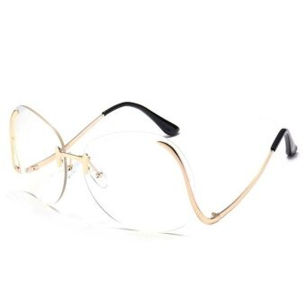 Harga Women Oversized Transparent Optics Lens Sunglasses Brand Designer Elegant Lady - intl