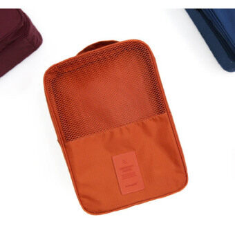 Harga TravelGear24 กระเป๋ารองเท้า กระเป๋าใส่รองเท้า Shoes Pouch Portable Shoes Organizer Shoes Bag (Orange/ส้ม)
