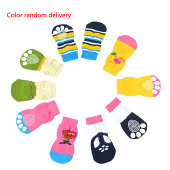 Harga Pet Socks Doggie Dog Cat Puppy Colorful Anti Slip Pet Product Supply S & Random S