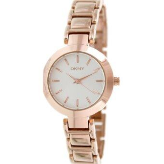 Harga DKNY Silver Dial Rose Gold Tone Stainless Steel Ladies Watch