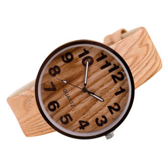 Harga Fashion Wood Grain Watches(Beige)