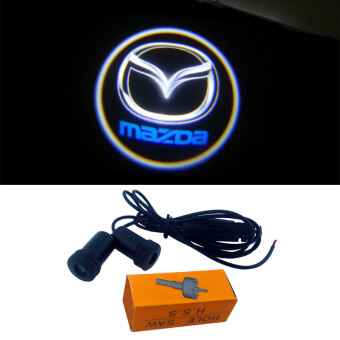 Harga 2x LED Car Door Courtesy Laser Projector LED Logo Ghost Shadow Light For Mazda M3 M5 M6 M8 M2 CX5 CX7 CX-5 - Intl