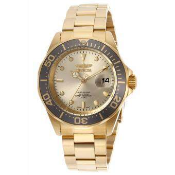 Harga Invicta Style: 14979 Men's Pro Diver Gold Dial 18K Gold Plated Stainless Steel