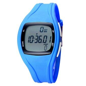 Harga The Best Quality TTLIFE Children's Primary School Students Colorful Sports Digital Pedometer Waterproof Luminous Watch(blue)