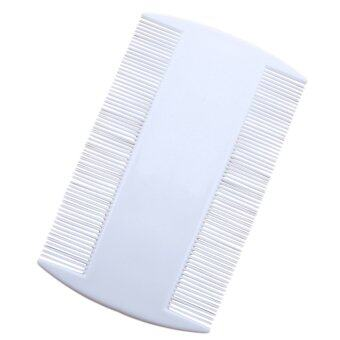 Harga new White Durable Double Sided Nit Combs for Head Lice Dectection Comb Kids PET pet Flea