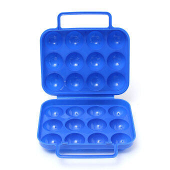 Harga Portable Egg Storage Box For 12 Eggs Holder Camping Shatter-Proof Egg Carrier - intl