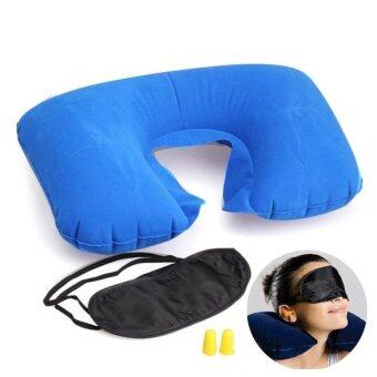 Harga Travel Essential Fashion Multifunction Inflatable Pillow Patch Earplug (Color Random) - intl