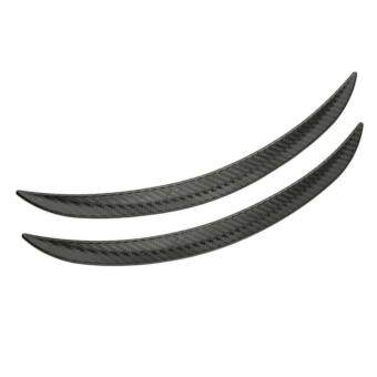 Harga USTORE 2pcs Carbon Fiber Style Fender Flares Wheel Lip Body Kits Car Decoration Black
