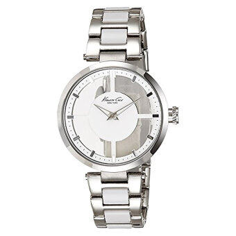 Harga Kenneth Cole New York Men's KC4827 Transparency Triple Silver Transparency Ladies Watch - Intl