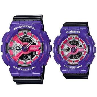 Harga Casio G-shock & Baby-G Men and Women Watch model GA-110NC-6A & BA-110NC-6A (purple/black)