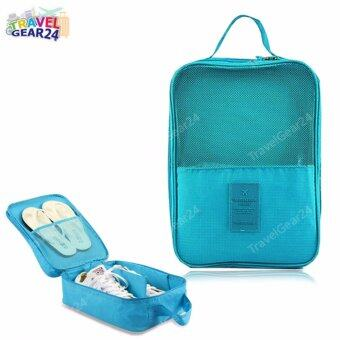 Harga TravelGear24 กระเป๋ารองเท้า กระเป๋าใส่รองเท้า Shoes Pouch Portable Shoes Organizer Shoes Bag (Blue/สีฟ้า)