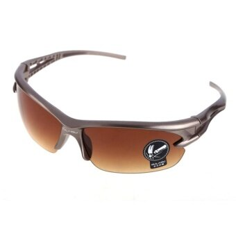 Harga Women Men UV Protective Goggles Sunglasses Cycling Running Sports Eyewear Sun Glasses (Tawny ) - intl