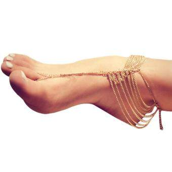 Harga Multi Tassel Chain Link Anklet Foot Chain Anklet Foot Jewelry - intl