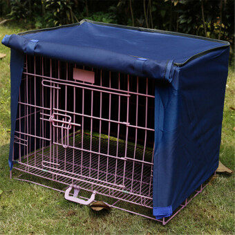 "Harga Pet Dog Crate Cage Kennel COVER Breathable Outdoor Waterproof Size19""-36"" S Blue NEW - intl"