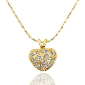 Harga JER FASHION Ms. Gold Heart Pendant Necklace