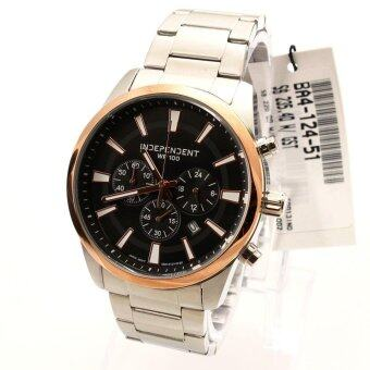 Harga Independent Watch Independent Silver Stainless-Steel Case Stainless-Steel Bracelet Mens NWT + Warranty BA4-124-51
