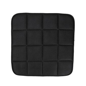 Harga 42cm*42cm Bamboo Charcoal Breathable Car Seat Cushion Cover Chair Mat Black (Intl)