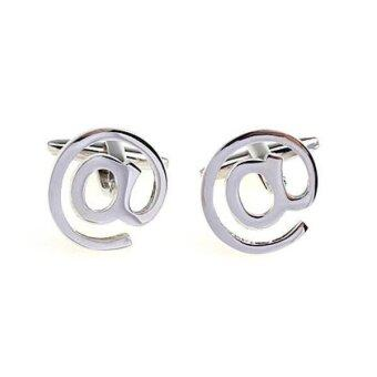 "Harga MagiDeal 1Pair Novelty ""@ SYMBOL"" Cufflinks for Men's Fashion"