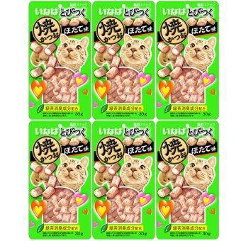ต้องการขาย INABA Soft Bits ขนมแมวซอฟท์ บิต ปลาทูน่าและเนื้อสันในไก่ รสหอยเชลล์ปริมาณ 25 กรัม x 6 ซอง