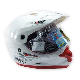 INDEX หมวกกันน๊อค มอเตอร์ไซค์วิบาก รุ่น EXTREM-3 (สีขาว)