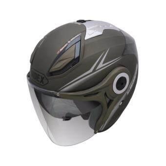 INDEX หมวกกันน็อค เปิดหน้า INDEX helmet ลิขสิทธิ์แท้ รุ่นหน้ากาก 2 ชั้น TITAN 7 i SHIELD