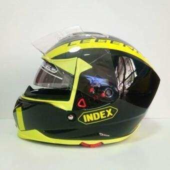 INDEX หมวกกันน๊อคเต็มใบ รุ่น LEGENDA (i-shield) หน้ากาก 2 ชั้น นวมภายในถอดซักได้