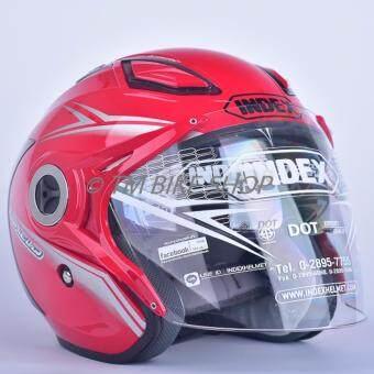 หมวกกันน็อค Index รุ่น Titan 7 i-Shield (สีแดง)