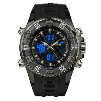 ซื้อ/ขาย INFANTRY US Police Mens Sport Quartz Army Digital Rubber Luxury Wrist Watch IN-069-BLK-R (Black)