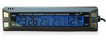 ต้องการขาย ITandHome เครื่องวัดอุณหภูมิ เทอร์โมมิเตอร์ ในรถยนต์ นาฬิกาติดรถยนต์ - สีดำ