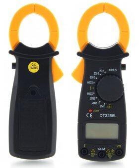 ITandHome เครื่องวัดแรงดันและกระแสไฟฟ้า มัลติมิเตอร์ DigitalMultimeter - สีดำ (image 4)