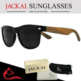 JACKAL แว่นกันแดดขาไม้ Jackal Semi-Wooden Sunglasses รุ่น TravellerTL008P
