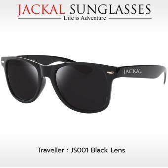 JACKAL แว่นกันแดด SUNGLASSES รุ่น TRAVELLER JS001 (Premium Black Frame /Smoke Lens)