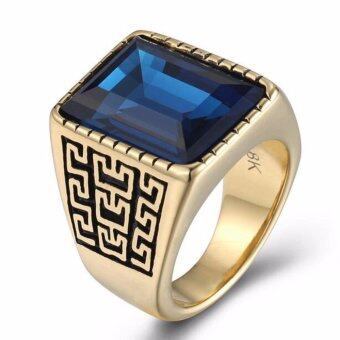 JOY 18 k gold man ring pattern ring - intl