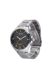 ประเทศไทย Julius Homme นาฬิกาข้อมือผู้ชาย สายสแตนเลส รุ่น JAH-016 - สีเงินหน้าดำ