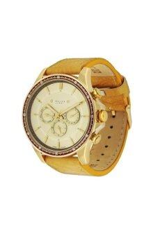 2561 Julius Homme นาฬิกาข้อมือผู้ชาย สายหนัง สีเหลือง รุ่น JAH-021