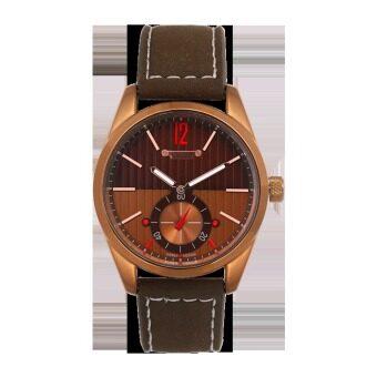 ราคา Julius Homme นาฬิกาสำหรับผู้ชาย สีน้ำตาลเข้ม สายหนัง รุ่น JAH-088