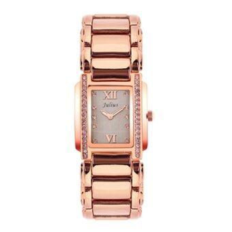 ประเทศไทย Julius นาฬิกาข้อมือผู้หญิง สาย/ตัวเรือน โลหะผสม รุ่น J812 (rosegold/w)