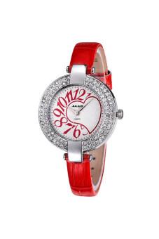 2561 Julius นาฬิกาสำหรับผู้หญิง สายหนัง รุ่น JA-312 แดง