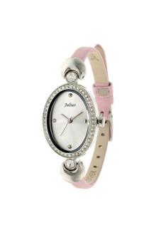 ราคา Julius นาฬิกา สำหรับผู้หญิง สายหนัง รุ่น JA-313 ชมพู