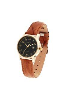 2561 Julius นาฬิกาสำหรับผู้หญิง สายหนัง สีน้ำตาลอ่อน รุ่น JA-508