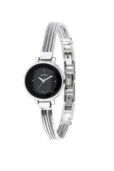 ราคา Julius นาฬิกาสำหรับผู้หญิง สีเงินหน้าดำ สายสแตเลส รุ่น JA-559