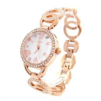 ประเทศไทย Julius นาฬิกาข้อมือผู้หญิง สาย/ตัวเรือน โลหะผสม รุ่น JA-646 (rosegold)