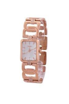 ราคา Julius นาฬิกาข้อมือสุภาพสตรี สีชมพูทอง สายสแตนเลส รุ่น JA-650