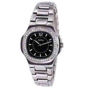 ซื้อ/ขาย Julius รุ่น JA-711 นาฬิกาผู้หญิง สแตนเลส สีเงินหน้าดำ