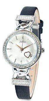 2561 Julius นาฬิกาข้อมือผู้หญิง สีดำ สายหนัง รุ่น JA-783A